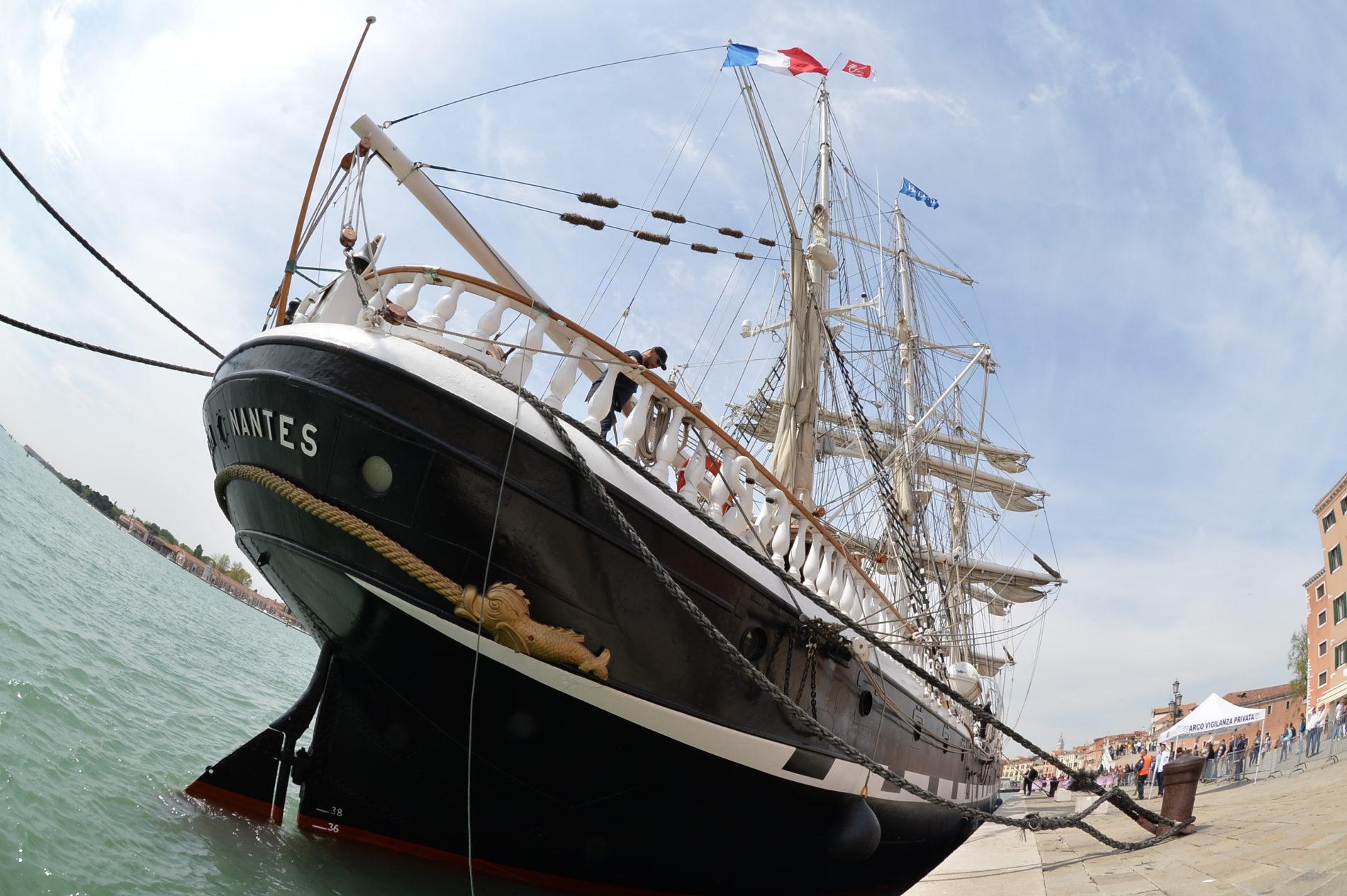 Achterkant van het schip Belem