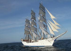 Christian Radich - De witte lady zeilboot in het water