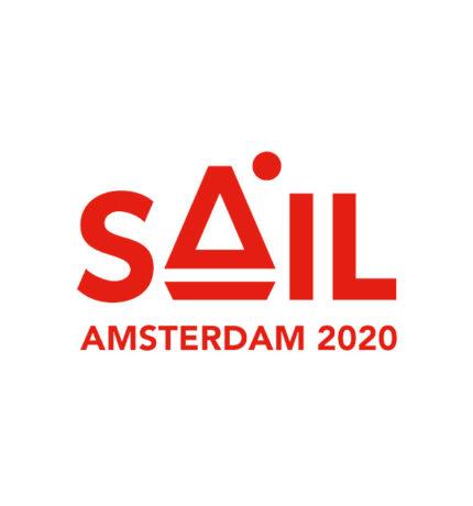 Rood logo SAIL Amsterdam 2020