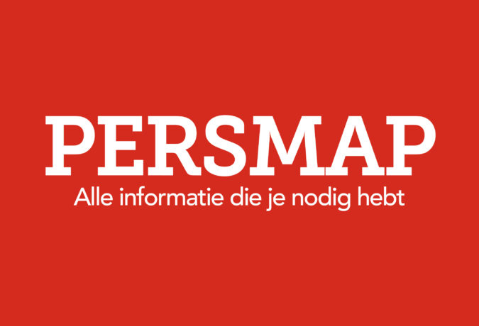 Rode achtergrond met witte tekst erin
