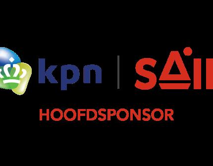 Logo hoofdsponsor kpn en SAIL